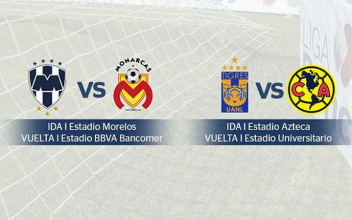 Quedan definidos los horarios de las semifinales de la Liga MX