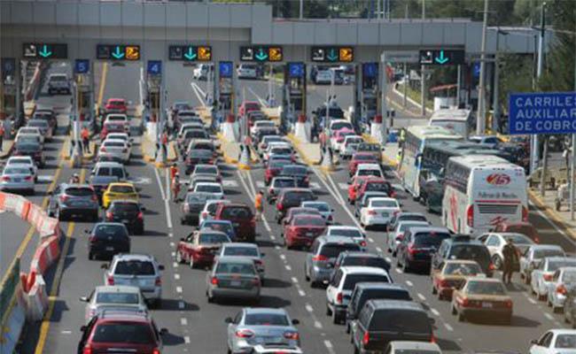 En Jueves Santo, la México-Cuernavaca con intensa carga vehicular
