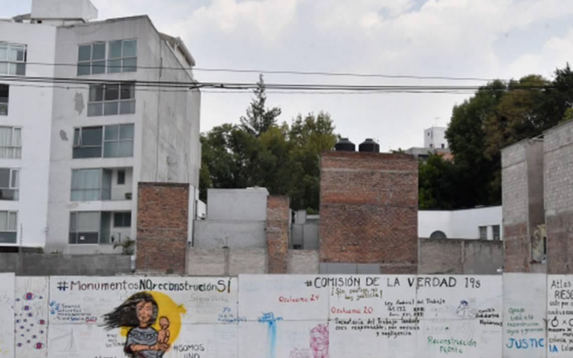 Dejan a la deriva predio del memorial 19-S en Álvaro Obregón