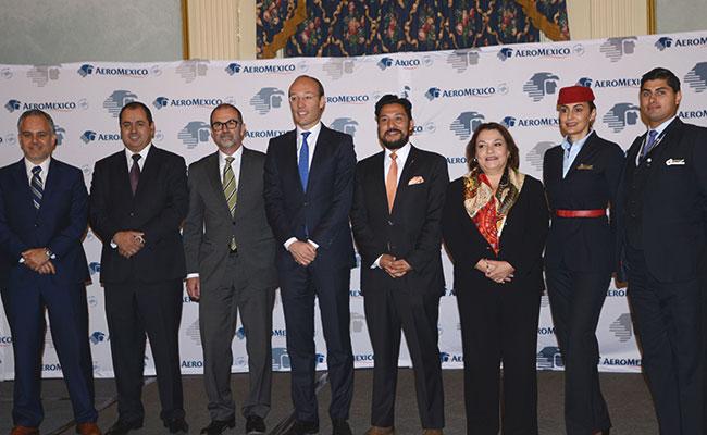 Inauguran nueva ruta de Aeroméxico: CDMX-Calgary, Canadá