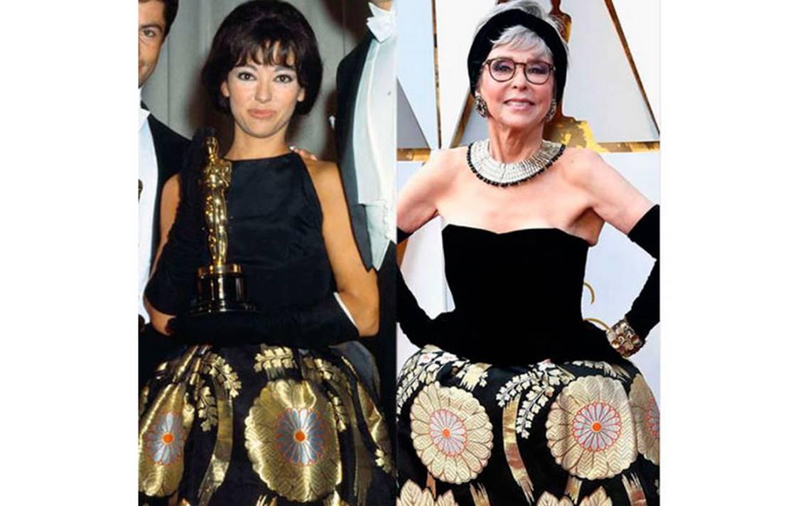 Rita Moreno usa en los Oscar el mismo vestido que llevó en 1962