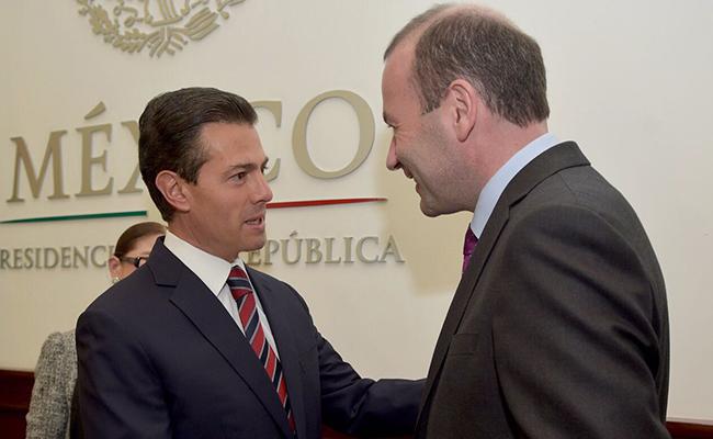 Enrique Peña se reúne con Europarlamentarios del Partido Popular Europeo