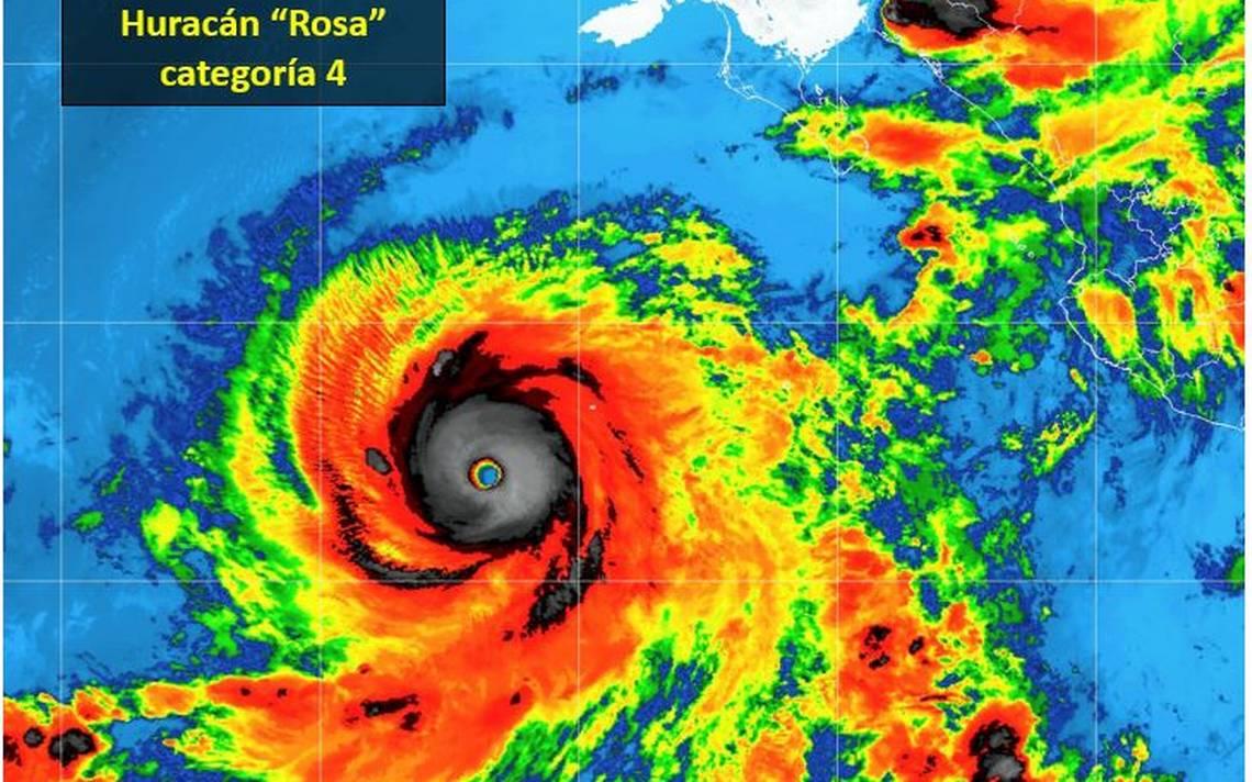 Rosa se fortalece rápidamente y pasa a ser huracán categoría 4