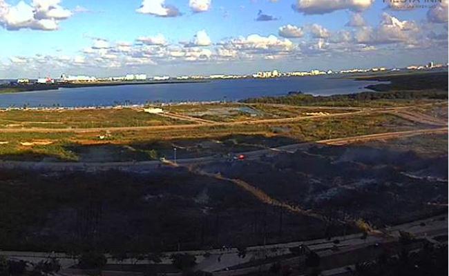 [Video] Reportan incendio en Tajamar, Cancún