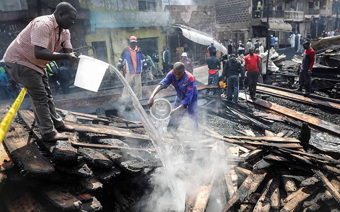 Incendio en mercado de Nairobi deja 15 muertos y 70 heridos