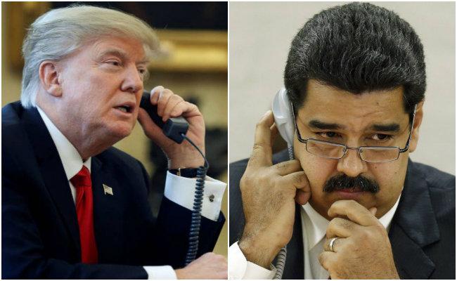 """Trump no descarta reunión con Maduro, """"vamos a ver qué pasa"""" dice"""