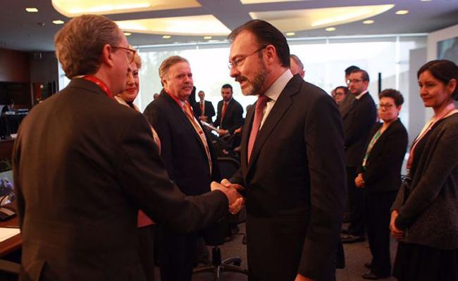 Luis Videgaray se reúne con embajadores de Europa y Norteamérica