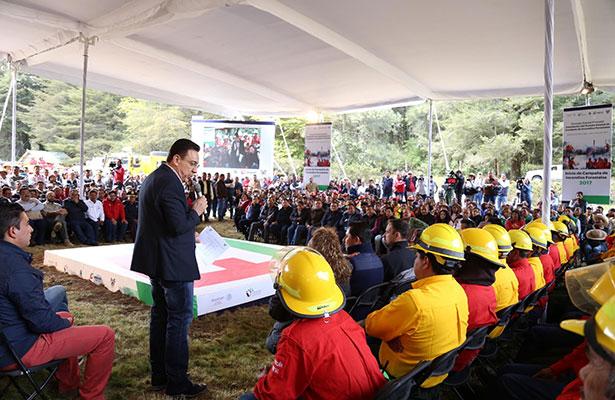Comprometido Omar Fayad a combatir incendios forestales en Hidalgo