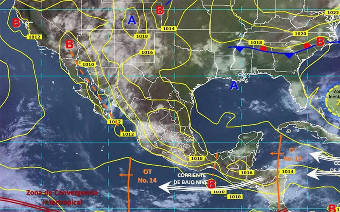 Onda tropical 15 ocasionará lluvias en todo el país