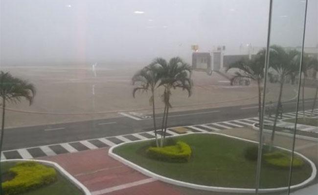 Banco de niebla afecta al aeropuerto de Tampico