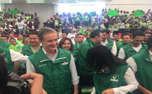 Alfredo Del Mazo del PVEM se lanza por gubernatura del Edomex