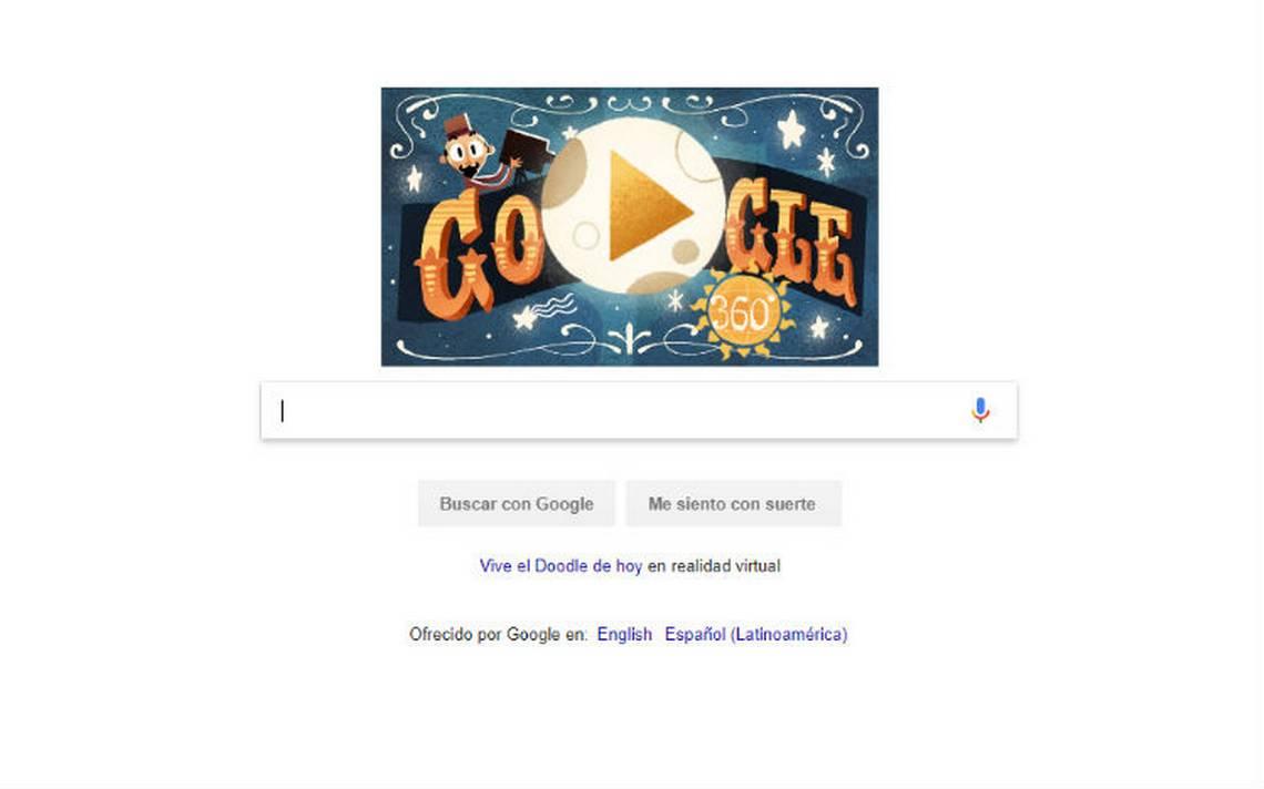 Google dedica su primer doodle 360A� al ilusionista Georges MA�liA?s