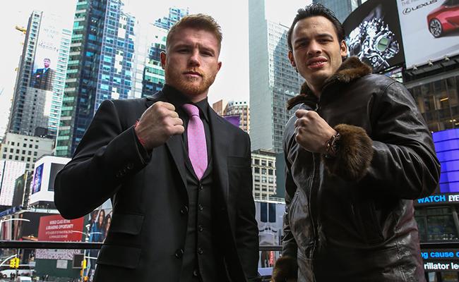 Canelo y Chávez Jr. llegan a Nueva York para promocionar su pelea