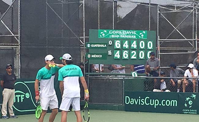México perdió en dobles dentro de la Copa Davis