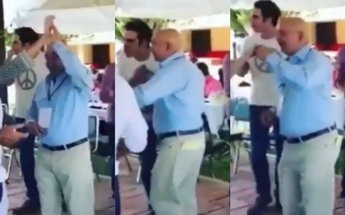 """Carlos Salinas de Gortari presume sus mejores pasos al ritmo de """"Tiburón, tiburón"""""""