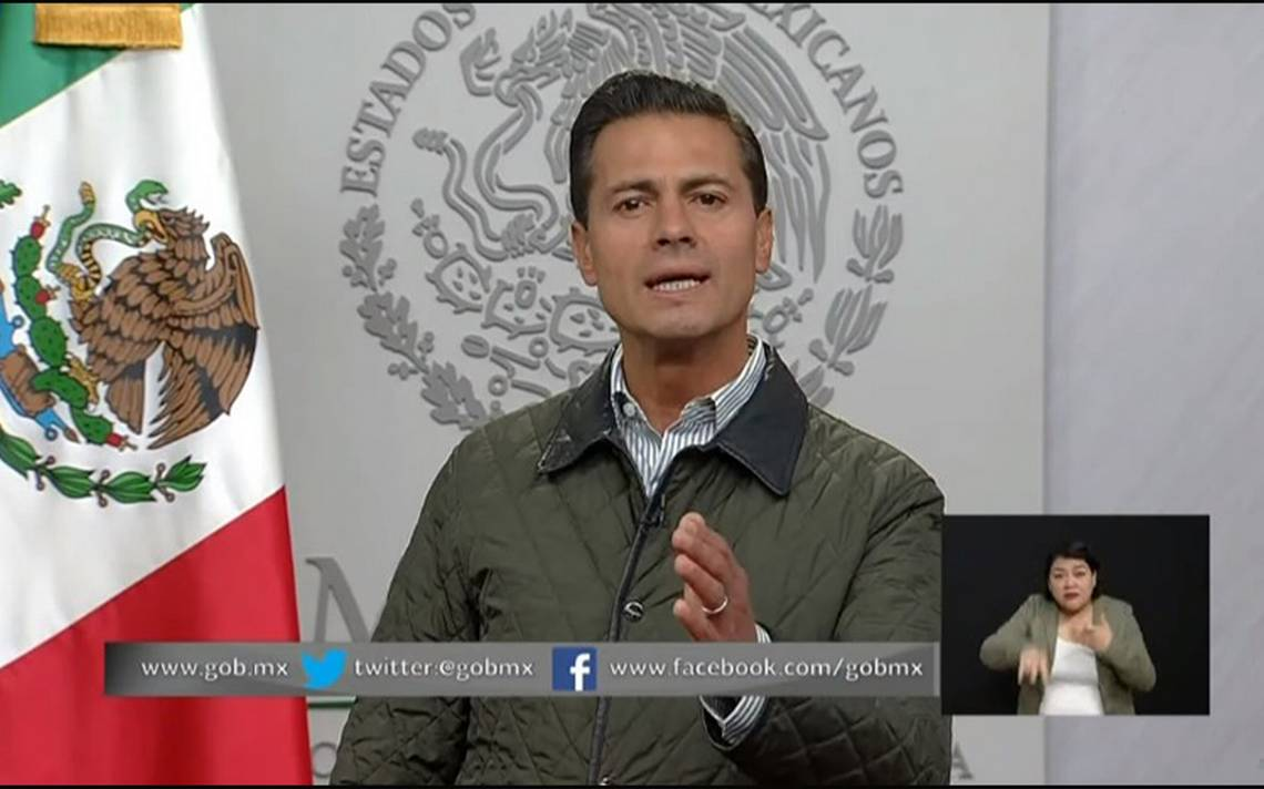 Somos un pueblo que no se rinde, que está listo para seguir: Peña Nieto