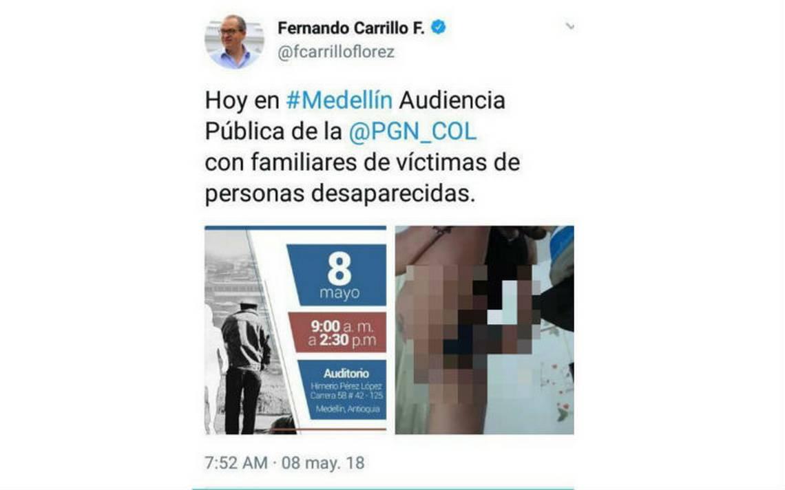 Hackean Twitter de procurador colombiano para publicar foto obscena