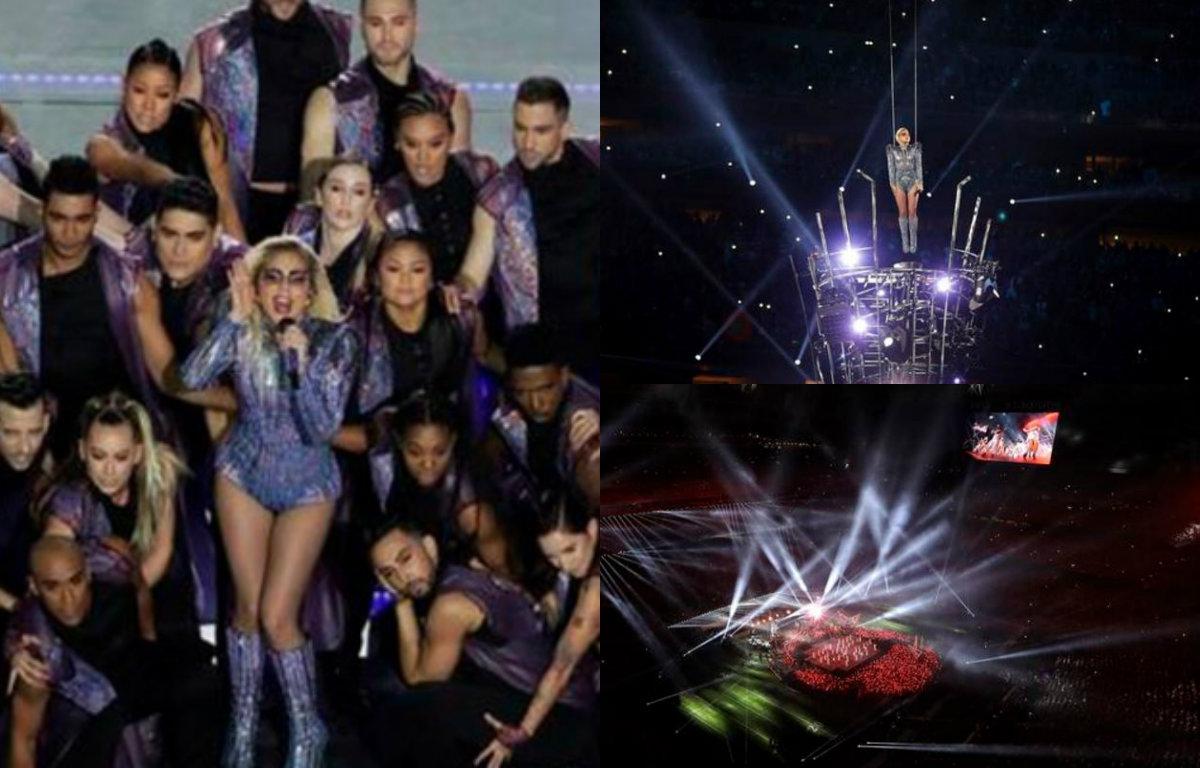 """Lady Gaga se """"avienta"""" espectacular medio tiempo en #SuperBowl51"""