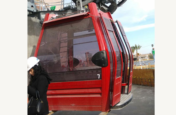 Próxima semana iniciará instalación de las góndolas de teleférico de Torreón