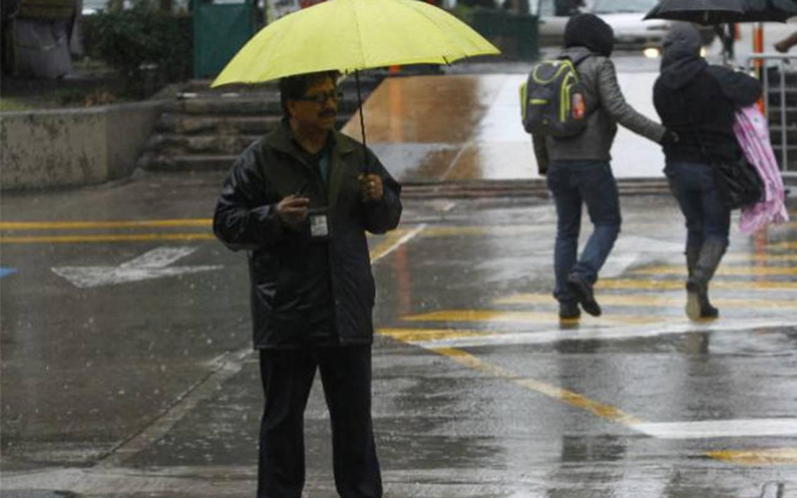 Se registra lluvia ligera y moderada sobre cuatro delegaciones
