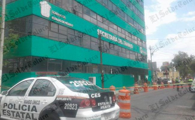 Reportan amenaza de bomba en Secretaría del Trabajo