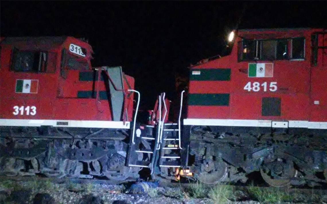 Choque de trenes en Chihuahua deja un muerto y 5 heridos