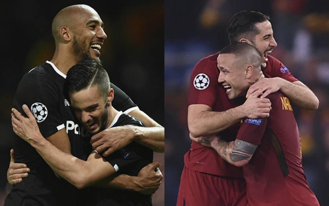 Roma y Sevilla aseguran lugar en cuartos de Champions League
