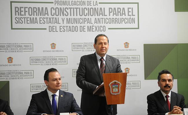Promulga Edomex creación del Sistema Estatal y Municipal Anticorrupción