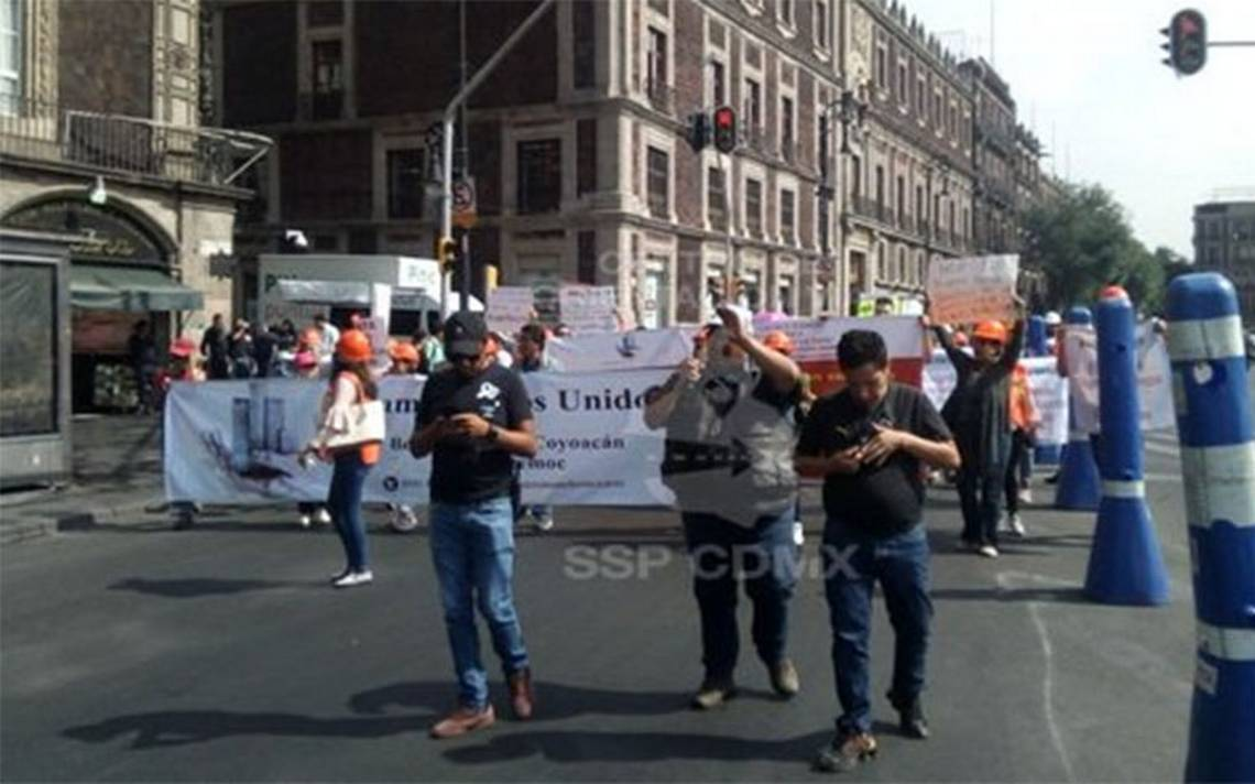 Damnificados del 19S marchan en la capital; exigen apoyos para reconstrucción