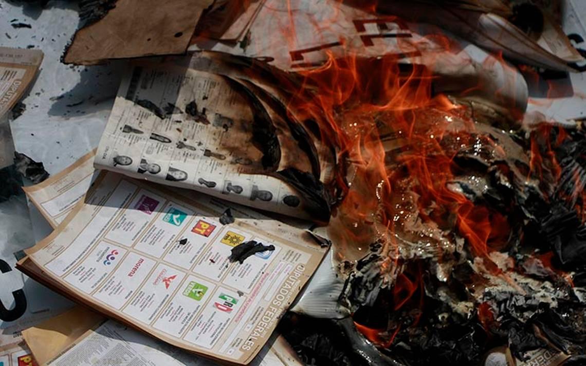 Roban y queman 8 mil boletas electorales, ahora en Oaxaca