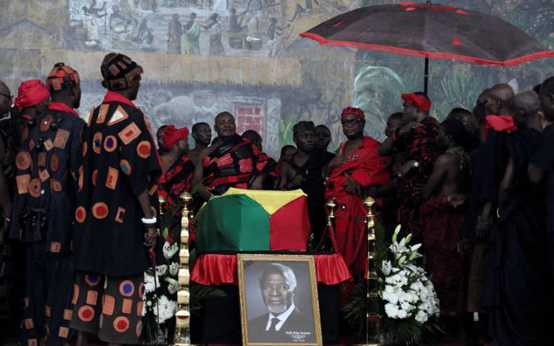 Restos mortales de Kofi Annan llegan a Ghana donde será enterrado