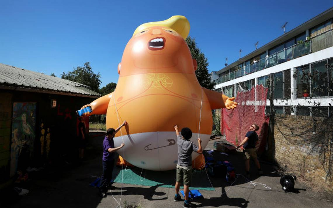"""Un """"bebé Trump"""" furioso sobrevolará Londres durante su visita al Reino Unido"""