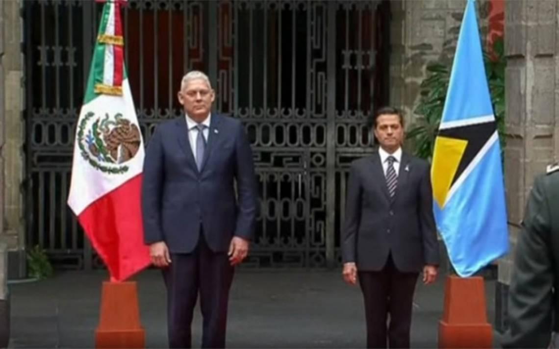 Peña Nieto recibe al Primer Ministro de Santa Lucía