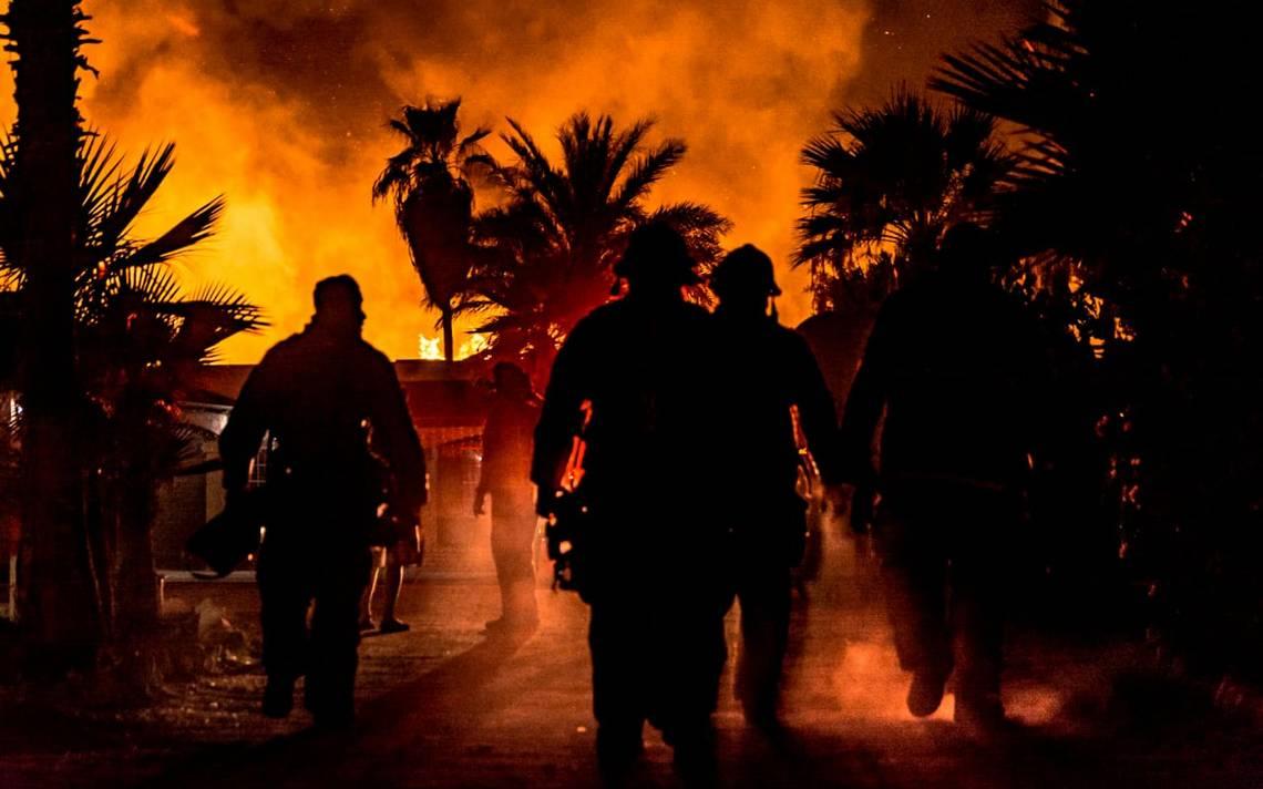 Se incendia recicladora en Mexicali