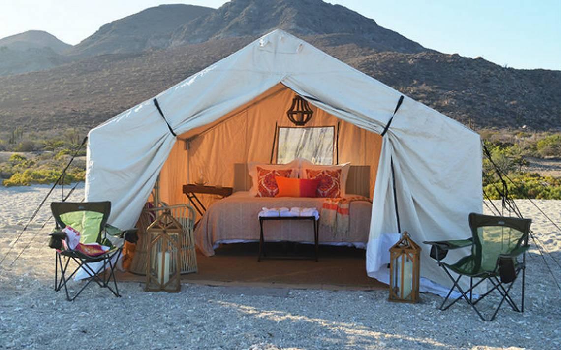 Glamping, acampar con lujo en La Paz
