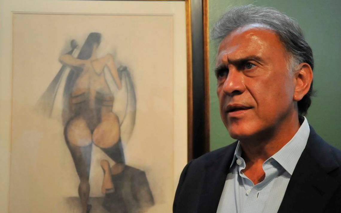 Obras de arte exhibidas por Yunes Linares no son mías: Javier Duarte