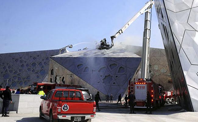 Incendio afecta a la recién inaugurada casa de la ópera de Kuwait