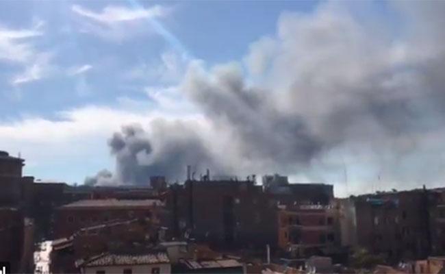 Se registra explosión y gran columna de humo en las cercanías del Vaticano