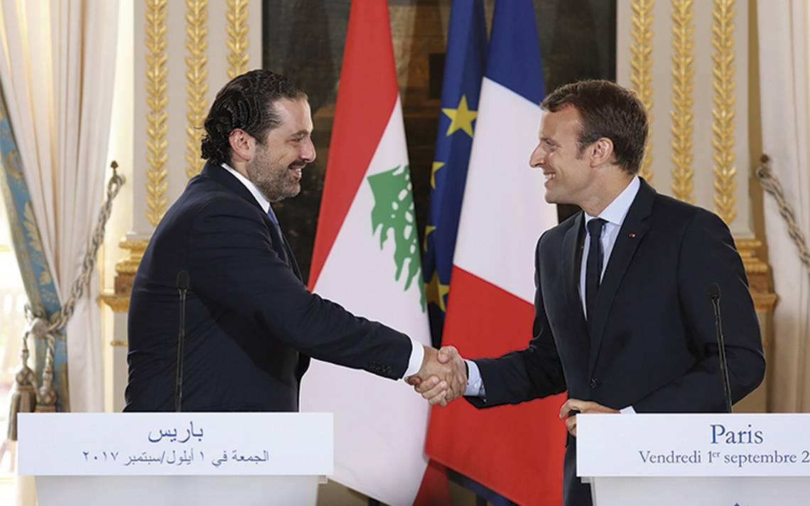 Expremier ministro de Líbano se entrevistará con Macron