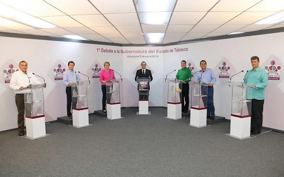 Inseguridad, desempleo y salud, temas del debate en Tabasco