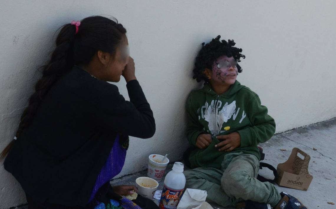 Mendigar por tortillas; la cruda realidad de niños tsotsiles y migrantes en Toluca