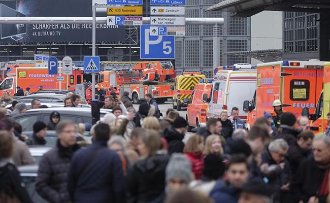 Movilización en aeropuerto Hamburgo por escape de sustancia desconocida
