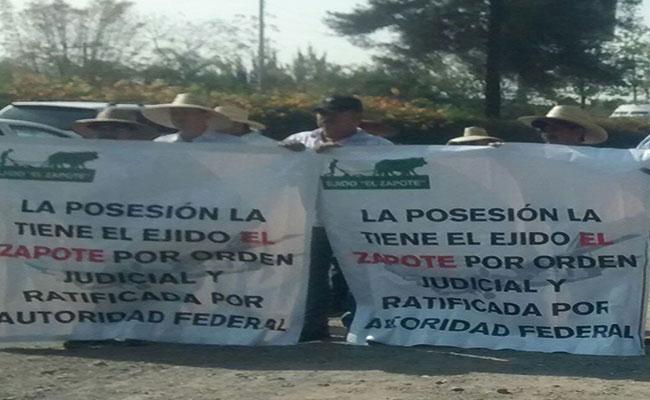 Ejidatarios de El Zapote exigen pago de terrenos