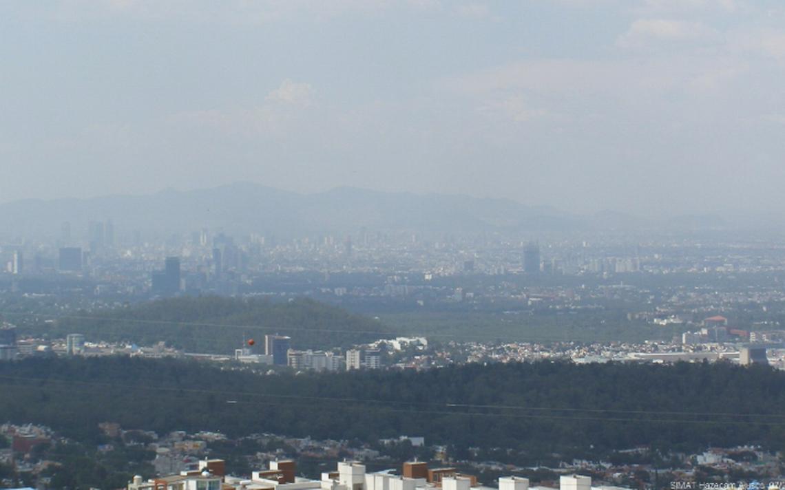 Reportan mala calidad del aire en el centro y noreste del Valle de México