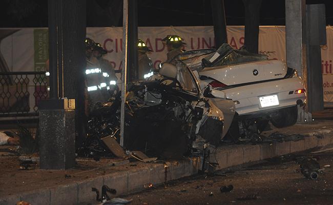 Dan prisión preventiva al conductor del BMW accidentado en Reforma