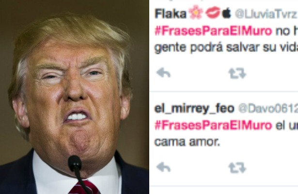 Usuarios de Twitter contraatacan a Trump con #frasesparaelmuro