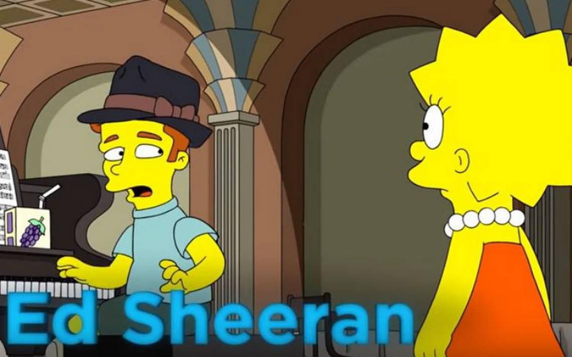"""Ed Sheeran parodia la cinta """"La La Land"""" en su primera aparición en Los Simpson"""