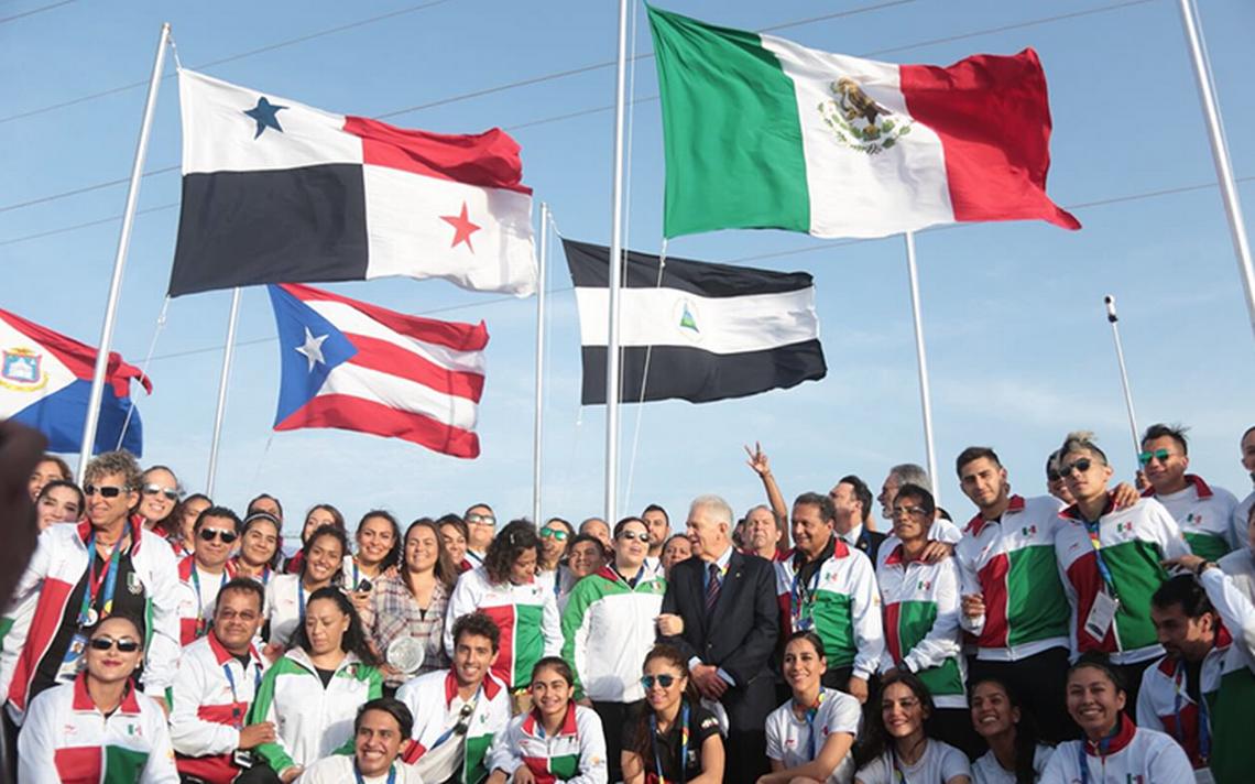 Bandera de México ya ondea en los Centroamericanos de Barranquilla