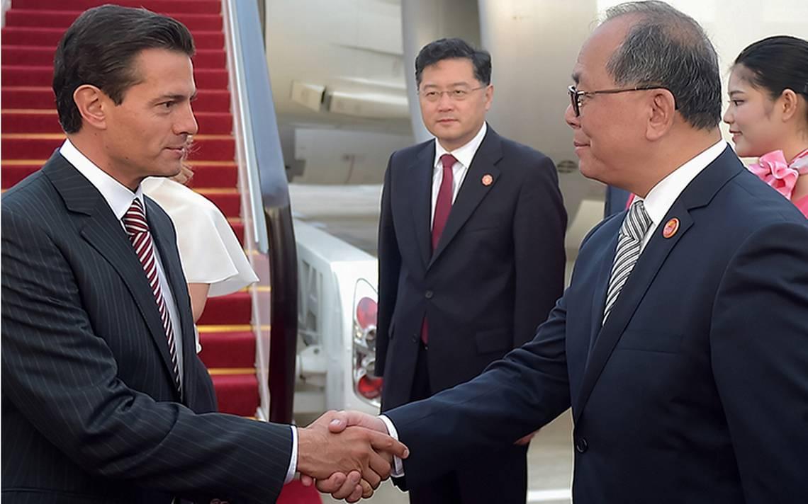 Peña Nieto arriba a China para participar con líderes de economías emergentes