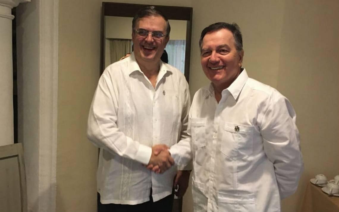 Marcelo Ebrard se reúne con canciller de Chile